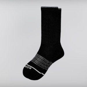 Bombas 1 Pair Large Black Calf Length Socks NWT